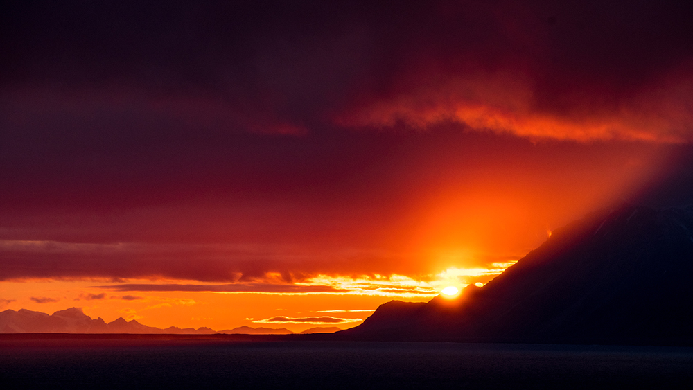 Isfjord sunset